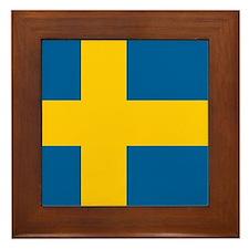 Swedish Flag Framed Tile