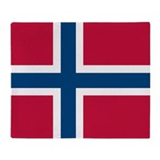Norwegian Flag Throw Blanket