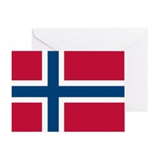 Norwegian Flag Greeting Cards
