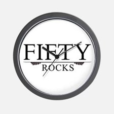 Fifty Rocks Wall Clock