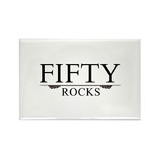 Fifty Rocks Rectangle Magnet