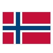 Norwegian Flag Postcards (Package of 8)