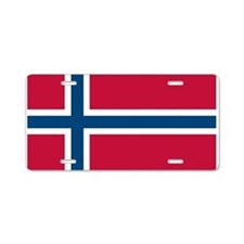 Norwegian Flag Aluminum License Plate
