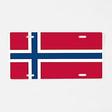 Norwegian Flag Aluminum License Plate