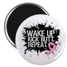 "Fight Like a Warrior Breast Cancer 2.25"" Magnet (1"