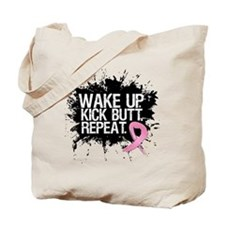Fight Like a Warrior Breast Cancer Tote Bag