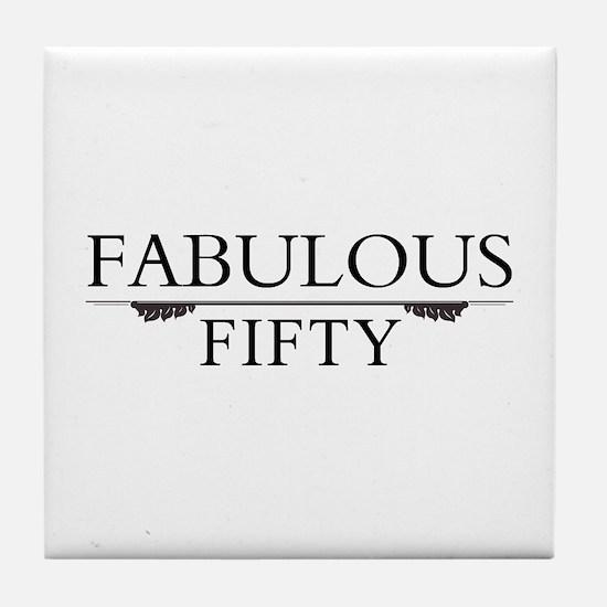 Fabulous Fifty Tile Coaster