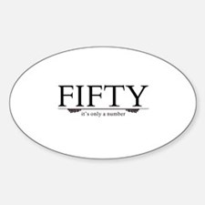 Fifty - Just A Number Decal