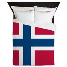 Norwegian Flag Queen Duvet
