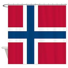 Norwegian Flag Shower Curtain