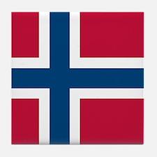 Norwegian Flag Tile Coaster