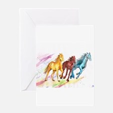 Watercolor Horses Greeting Cards