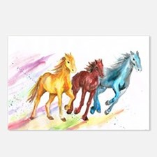 Watercolor Horses Postcards (Package of 8)
