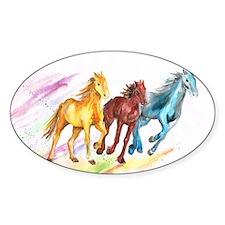 Watercolor Horses Decal