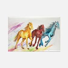 Watercolor Horses Magnets