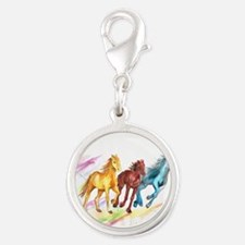 Watercolor Horses Charms