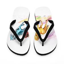 Watercolor Horses Flip Flops