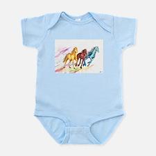 Watercolor Horses Body Suit