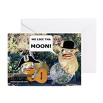 WE LOVE THE MOON-CARD_2 Greeting Cards