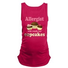 Allergist Will Work For Cupcakes Maternity Tank To
