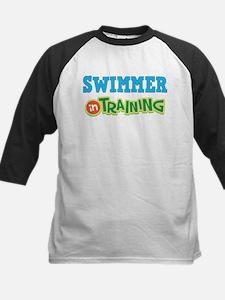 Swimmer in Training Kids Baseball Jersey