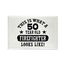 50th Birthday Firefighter Rectangle Magnet