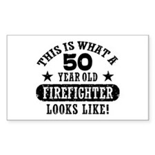 50th Birthday Firefighter Decal