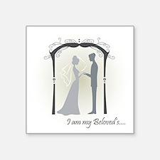 Beloved Bride and Groom Sticker