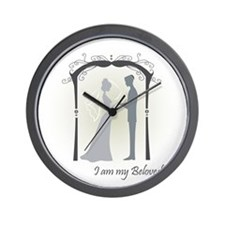 Beloved Bride and Groom Wall Clock