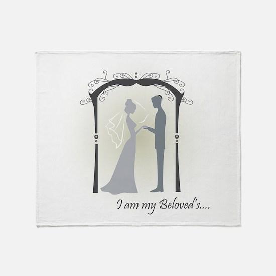 Beloved Bride and Groom Throw Blanket