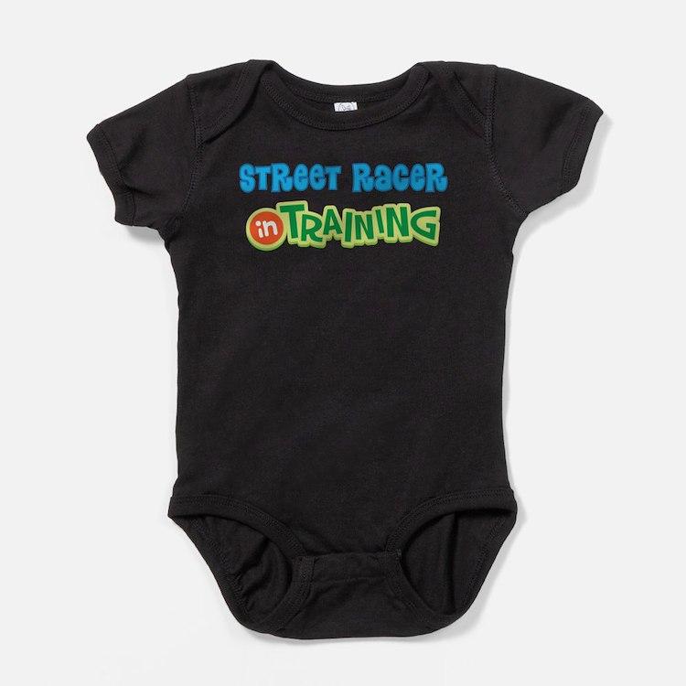 Street Racer in Training Baby Bodysuit