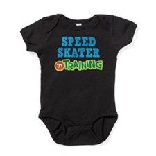Speed Skater in Training Baby Bodysuit