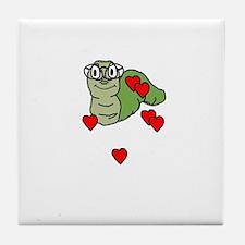 bookworm love Tile Coaster