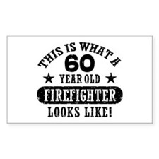 60th Birthday Firefighter Decal