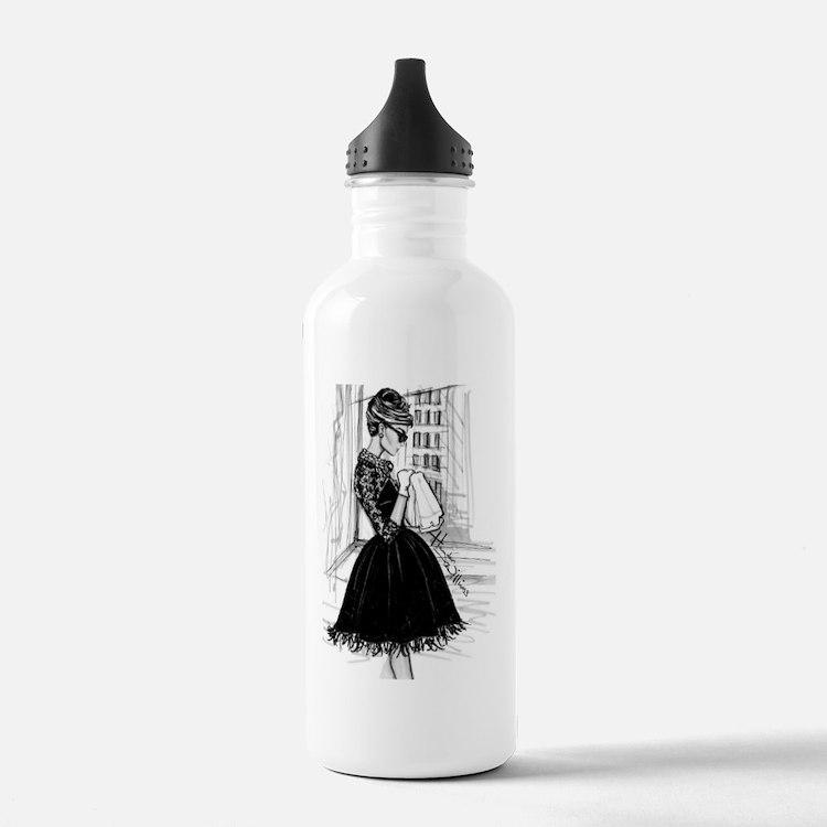 fashion sketch Water Bottle