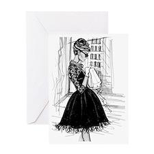 fashion sketch Greeting Card