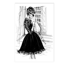 fashion sketch Postcards (Package of 8)