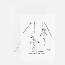 Trapeze Acrobat W/ Periodontal Disease Greeting Ca