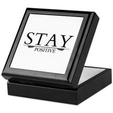 Stay Positive Keepsake Box