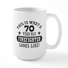 70th Birthday Firefighter Coffee Mug