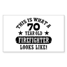 70th Birthday Firefighter Stickers