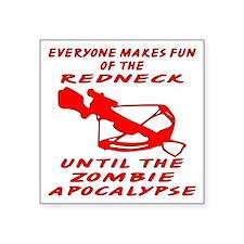 "The Zombie Apocalypse Square Sticker 3"" x 3"""