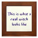 Real Witch Framed Tile