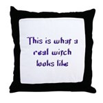 Real Witch Throw Pillow