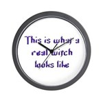 Real Witch Wall Clock