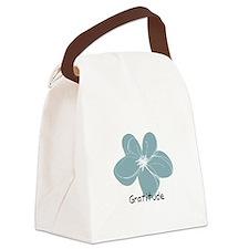 Gratitude floral Canvas Lunch Bag