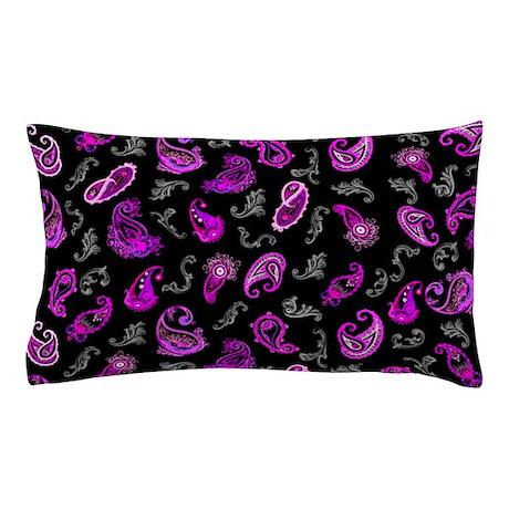 Purple Paisley Pillow Case