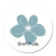 Gratitude floral Round Car Magnet