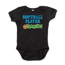 Softball Player in Training Baby Bodysuit