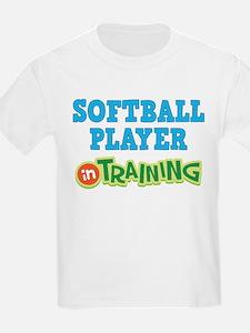 Softball Player in Training T-Shirt